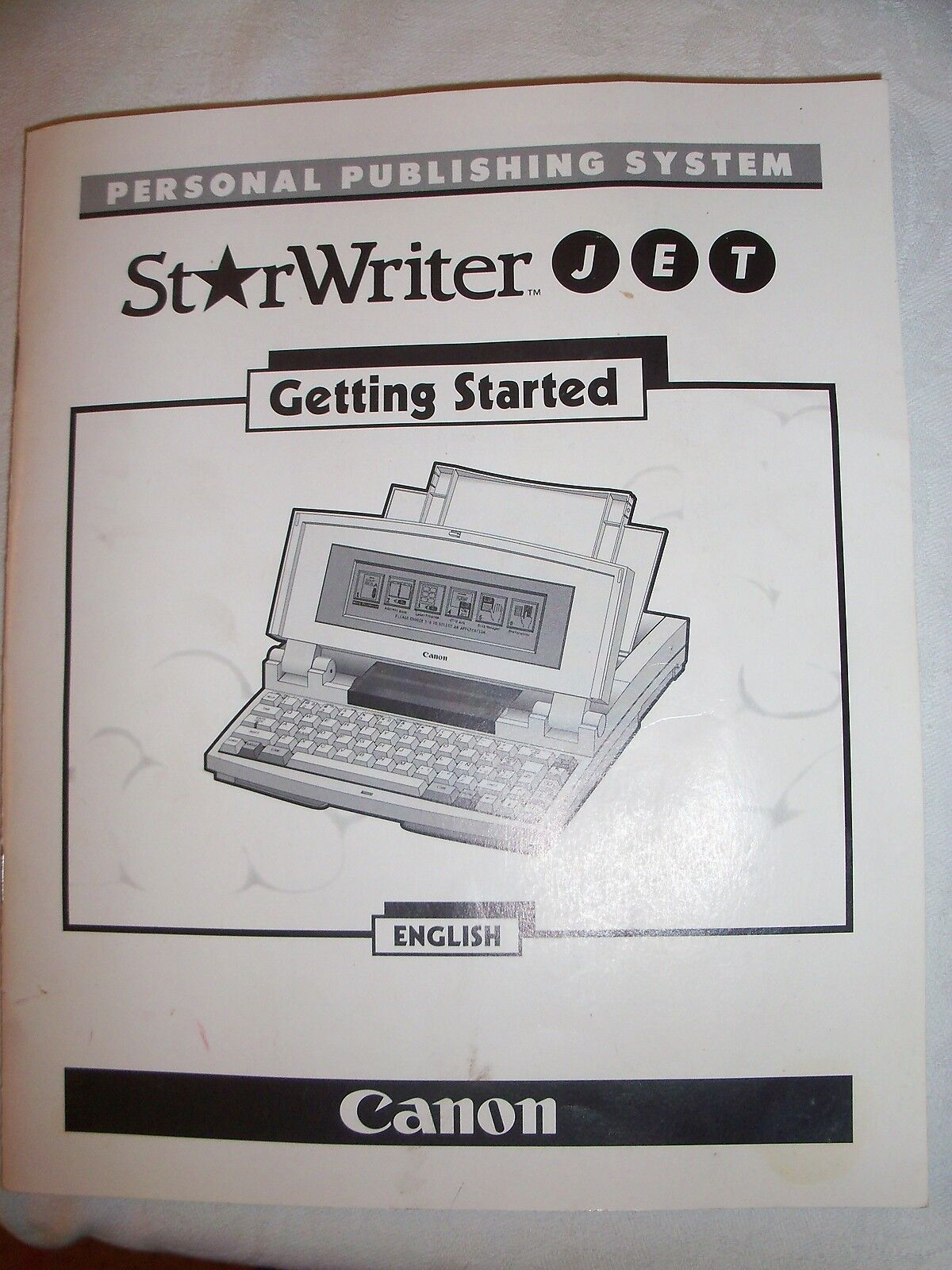 Instructions typewriter CANON Starwriter JET 'getting started' CD/Email