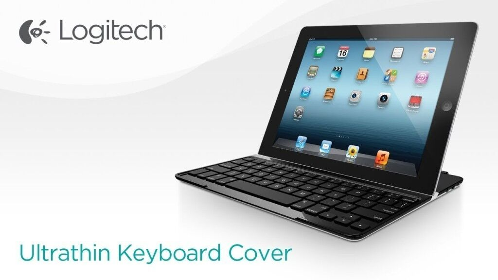 logitech ultrathin keyboard cover tastatur f r ipad 2 3 4. Black Bedroom Furniture Sets. Home Design Ideas