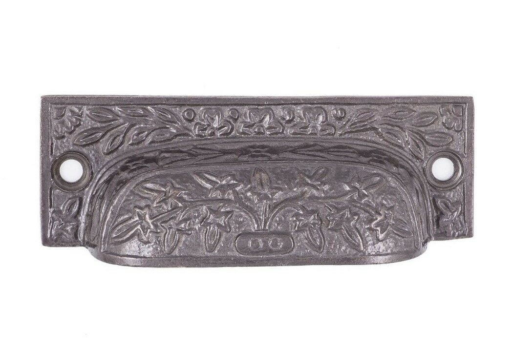 Tree of life Bin Pull For Kitchen Cabinet Drawers, Cast Iron