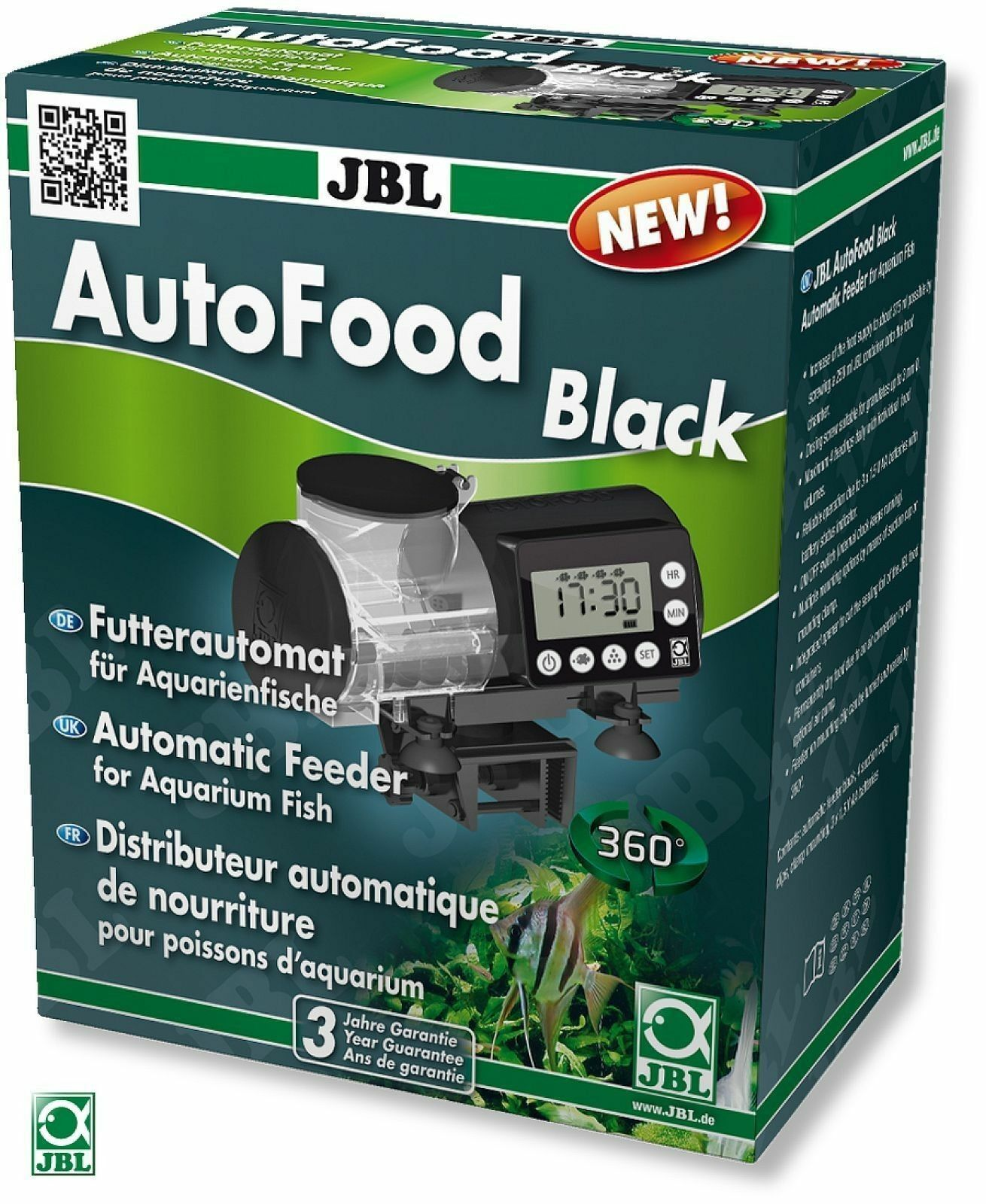Jbl autofood black automatic feeder for aquarium fish for Jbl aquarium