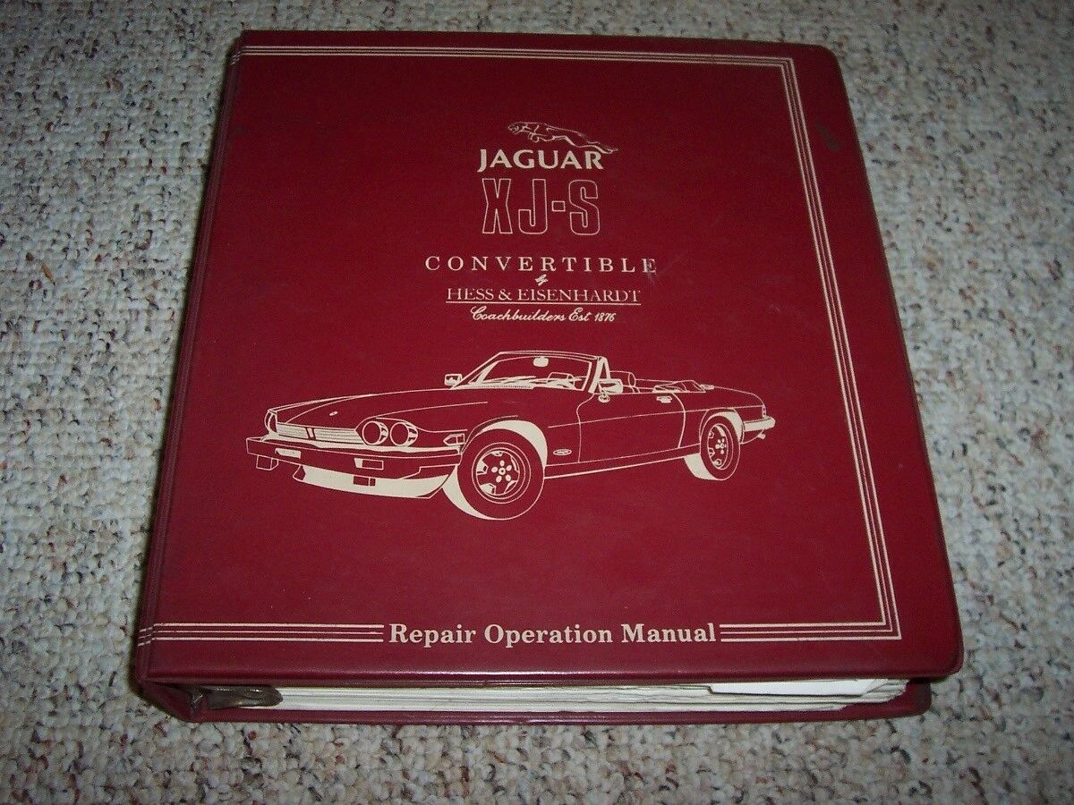 1986-1988 Jaguar XJS XJ-S Hess & Eisenhardt Convertible Service Repair  Manual 87 1 of 1FREE Shipping See More