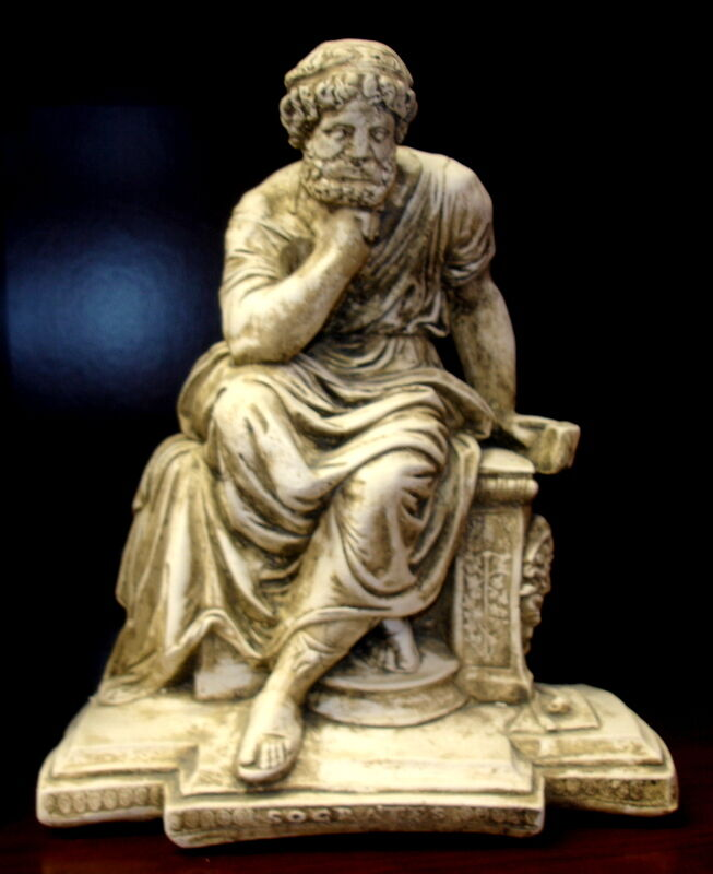 Statue of seated socrates home decor sculpture statue art Home decor sculptures