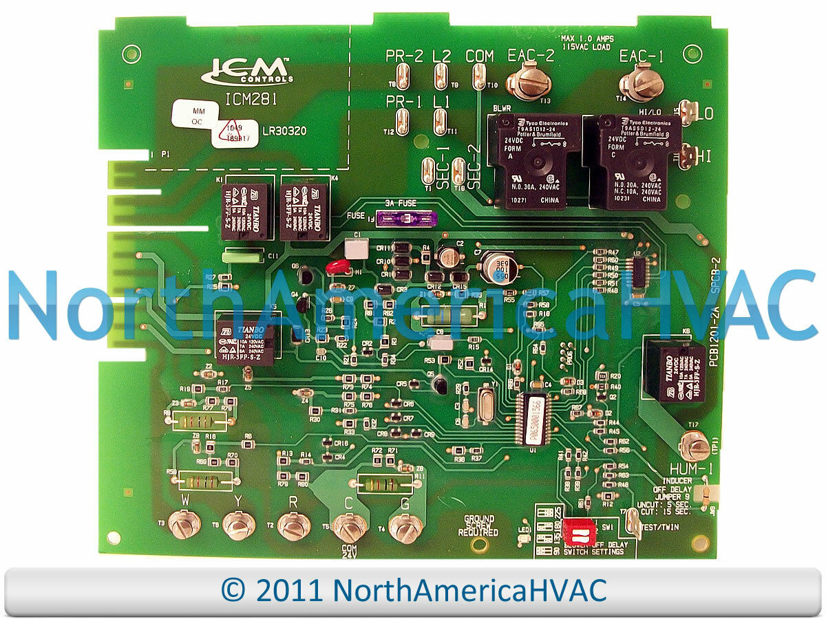 Carrier Bryant Payne Furnace Control Circuit Board Icm281 1 Of 1free Shipping