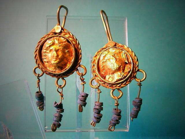 Exclusive Roman Golden Medusa Earrings