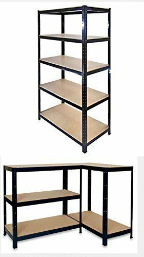 5 tier heavy duty boltless metal shelving shelves storage - Etagere pas chere pour garage ...