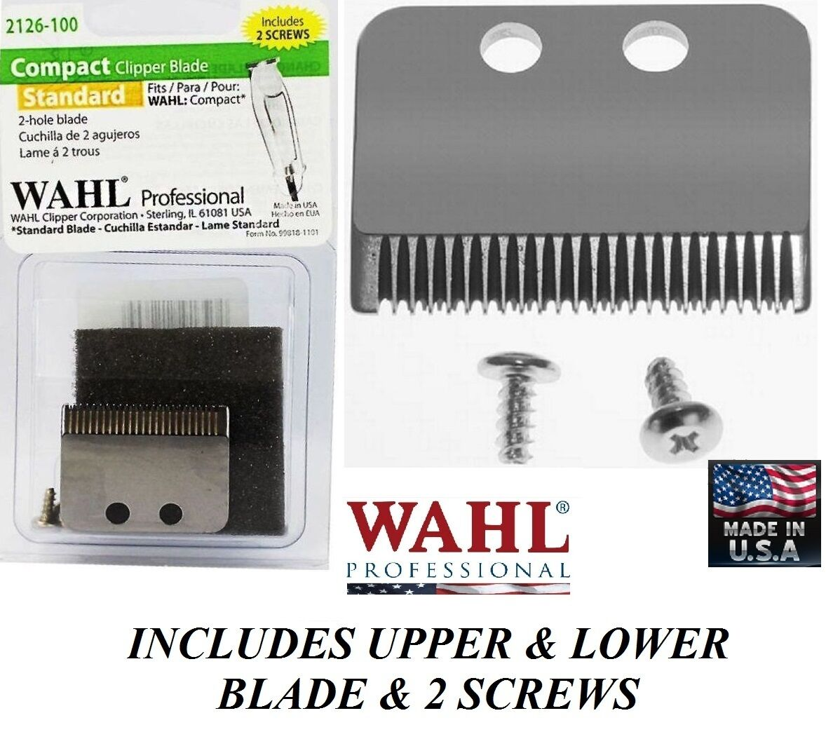 Wahl Replacement Blade Set For Compact Rotary Clipper Trimmer Wh 829 Classic Series 1 Usa Of 2only 3 Available