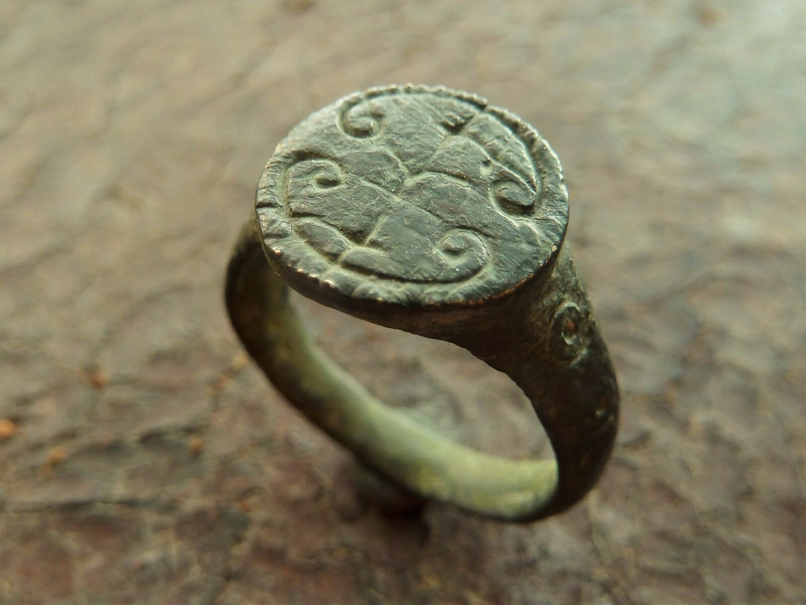 Medieval bronze ring (597).