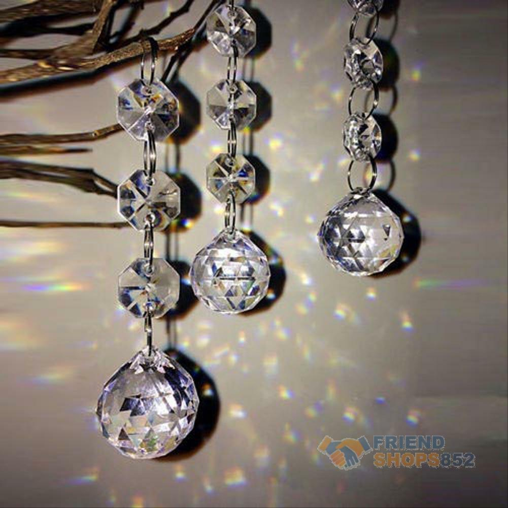 1 Of 11only 4 Available 10pcs Acrylic Crystal Diamond Wedding Party Decor Garland Chandelier Hang Beads