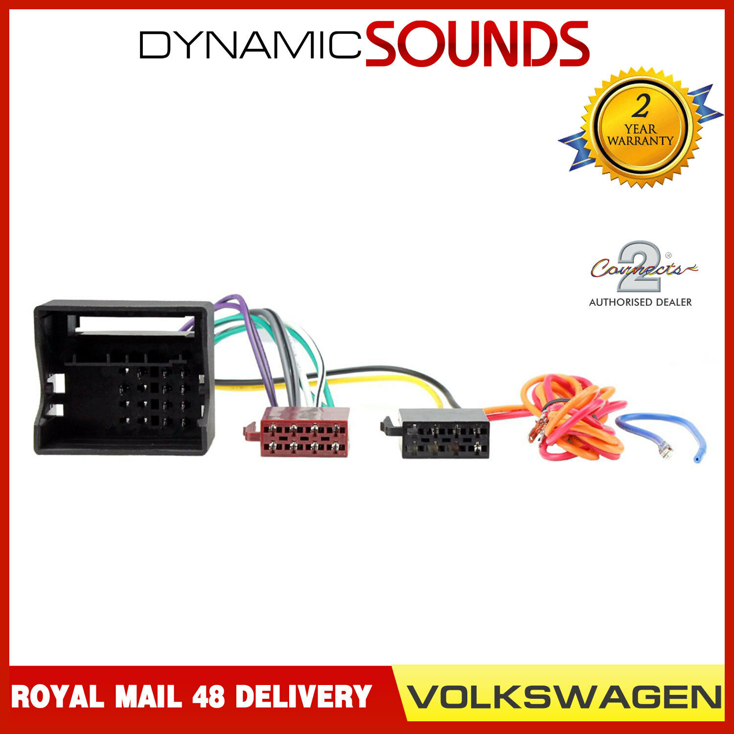 Ct20vw01 Car Stereo Iso Wiring Harness Adaptor For Volkswagen Vw 1 Of 2free Shipping See More