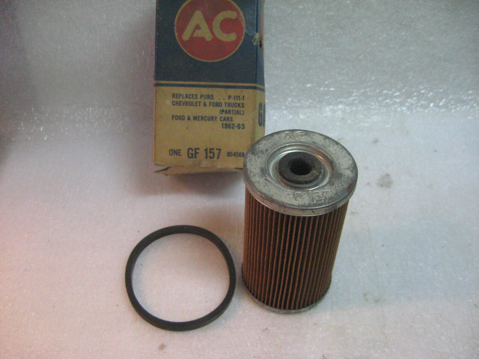 Vintage Ac Gf 157 Fuel Filter 62 65 Ford Car And Chevrolet Filters 1 Of 2only Available