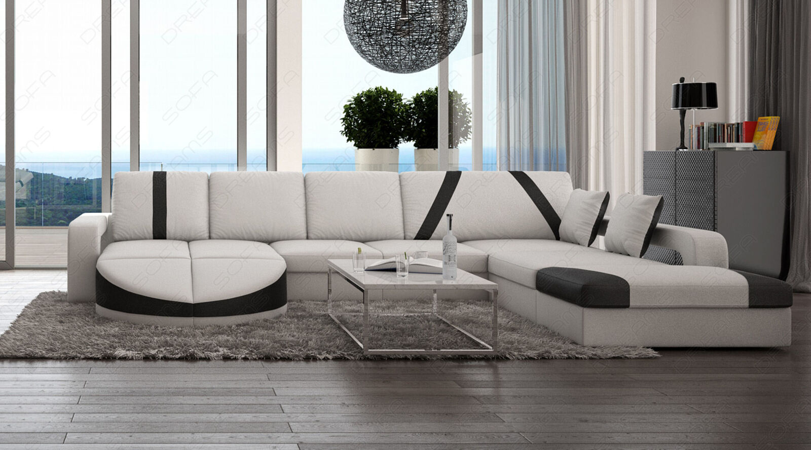 luxus designer couch ledersofa wohnlandschaft florenz u form eckcouch sofa eur. Black Bedroom Furniture Sets. Home Design Ideas
