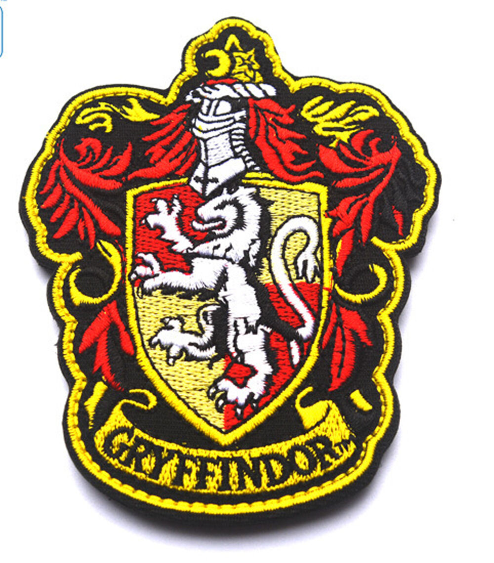 harry potter house of gryffindor crest logo embroidered