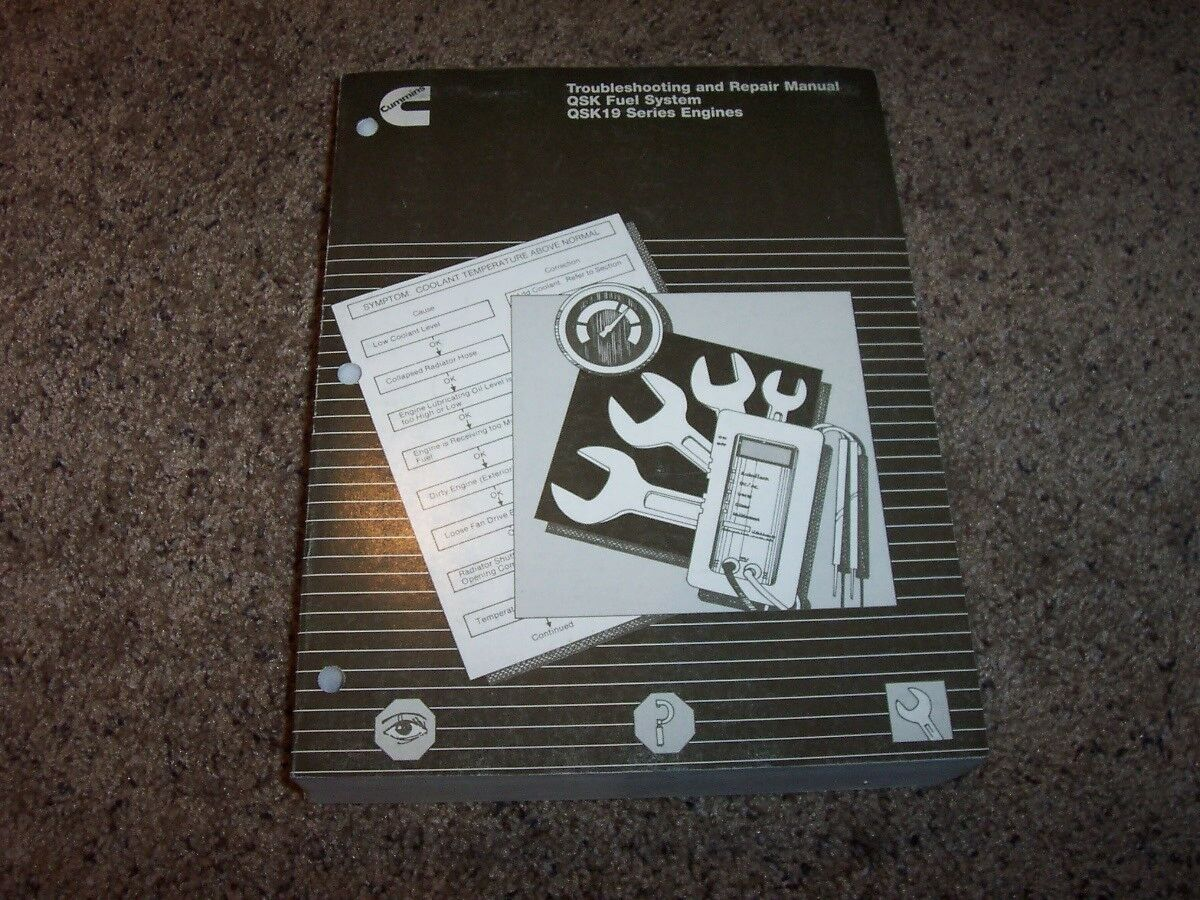 Cummins QSK-19 Engine Fuel System Service Troubleshooting Repair Manual  19.0L I6 1 of 2Only 1 available See More