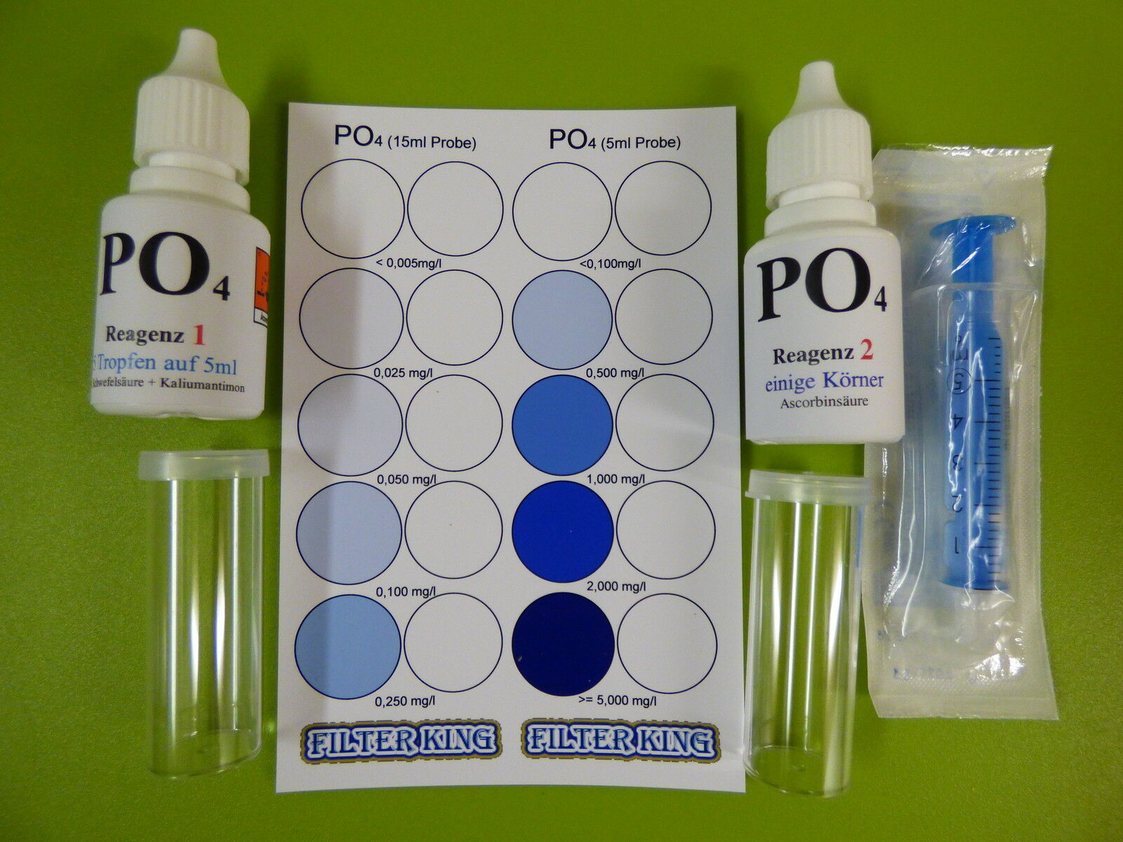 PO4 Phosphat Test Set für ca. 120 Tests