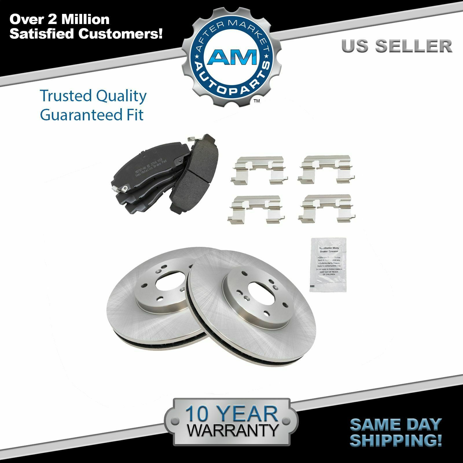 Nakamoto Front Metallic Brake Pad & Rotor Kit for Honda Accord Acura CL 3.2 TL 1 of 6Only 5 available ...