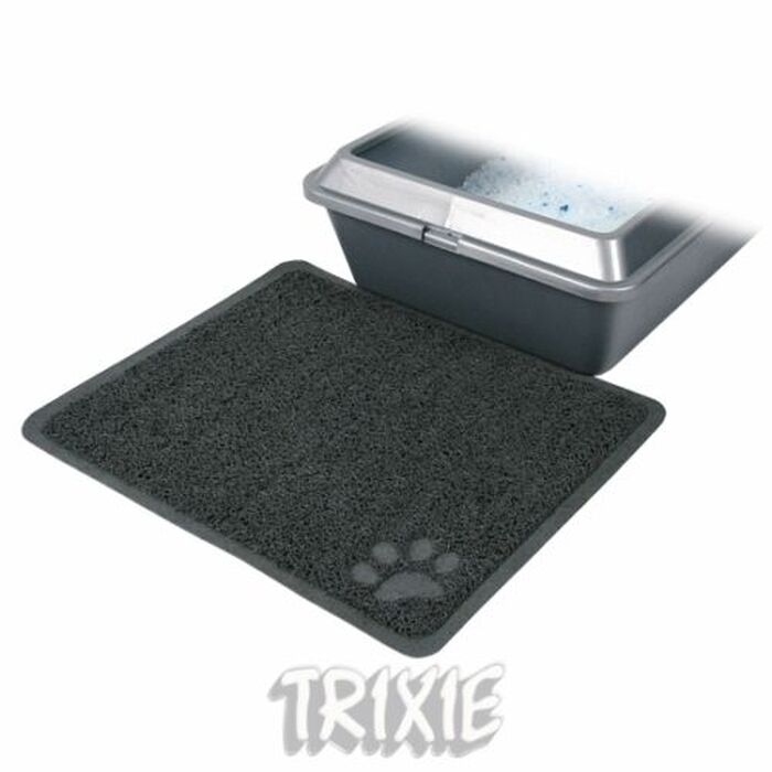 Cat Litter Tray Toilet Clean Pan Mat Grey With Paw 40381