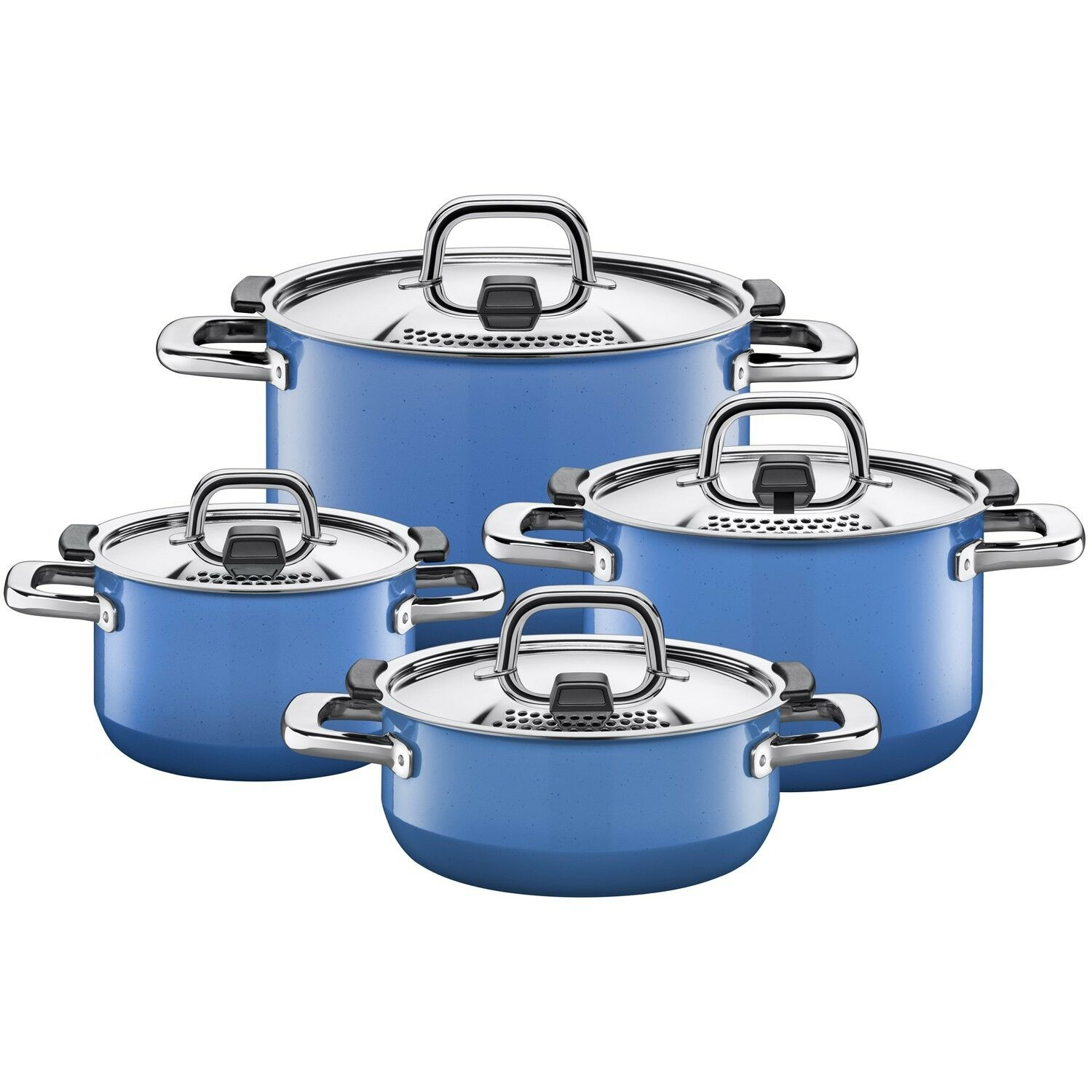 wmf silit nature 8 piece cookware set nature blue made in germany picclick ca. Black Bedroom Furniture Sets. Home Design Ideas