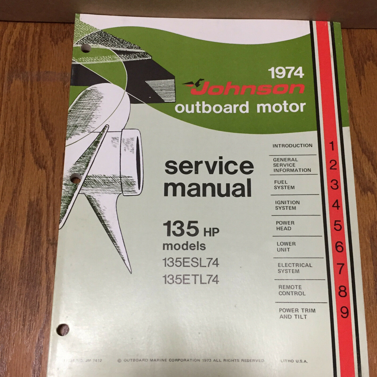 1974 Johnson Outboard Motor Service Manual 135HP Models 1 of 4Only 1 available ...