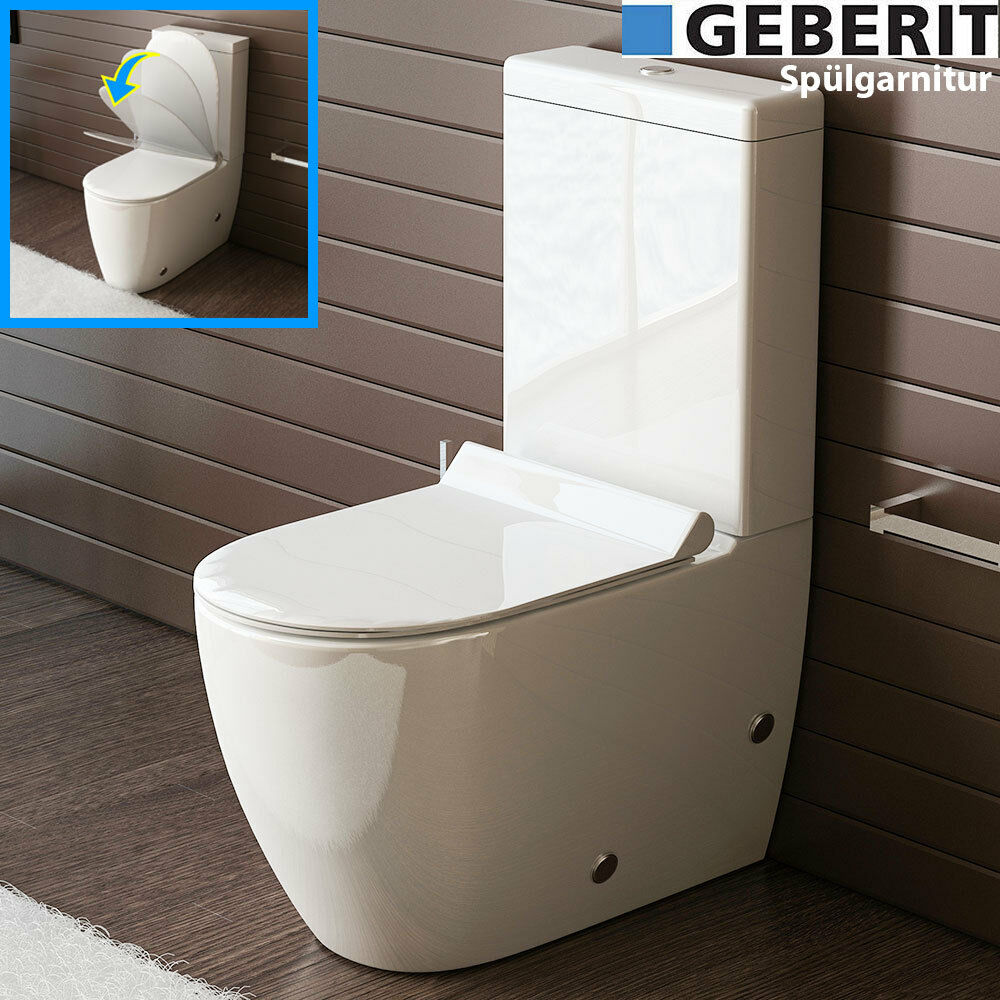 bad1a design stand wc mit geberit sp lgarnitur keramik toilette sp lkastenwc set eur 1 00. Black Bedroom Furniture Sets. Home Design Ideas