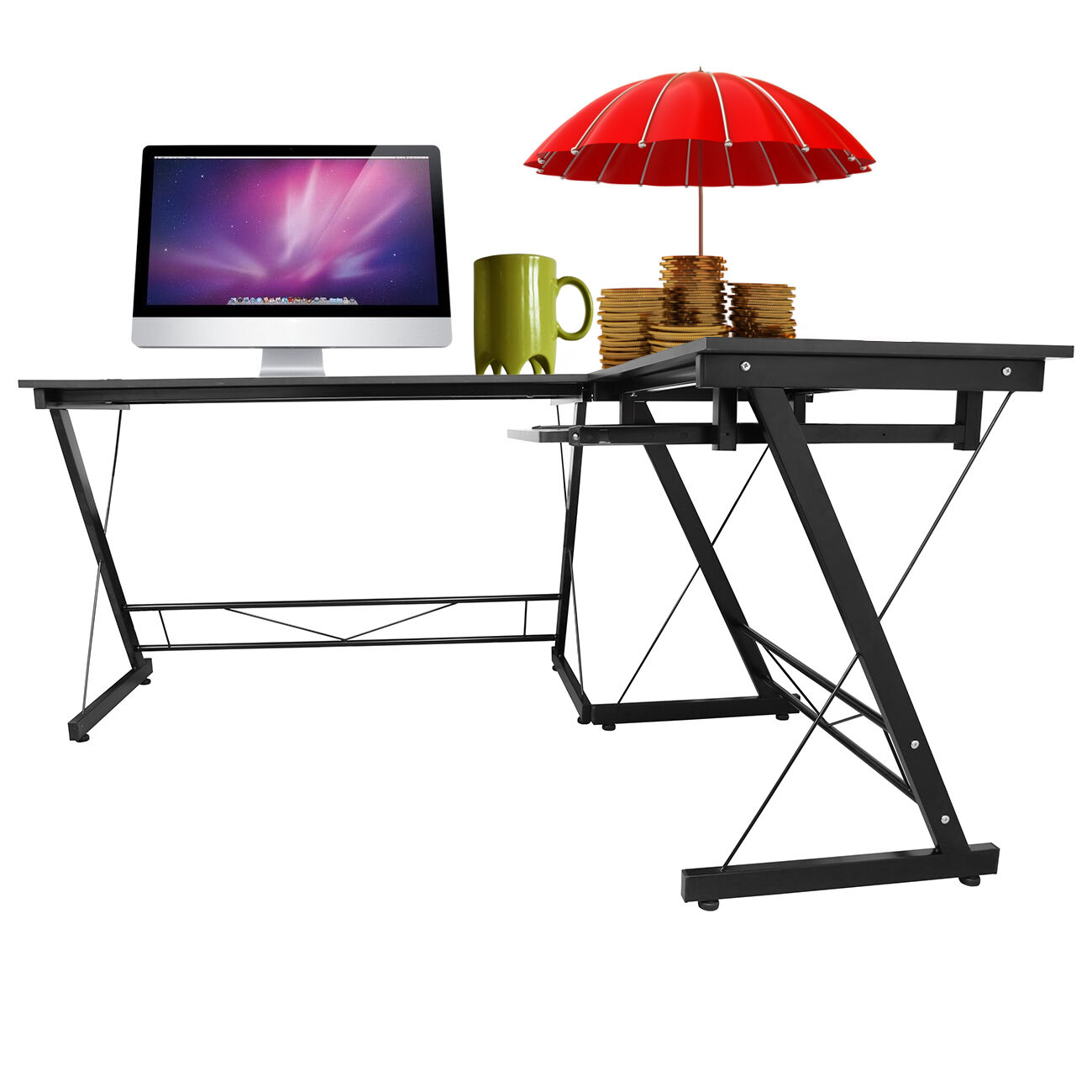 l forme coin pour ordinateur accueil bureau pc portable study table workstation eur 65 00. Black Bedroom Furniture Sets. Home Design Ideas