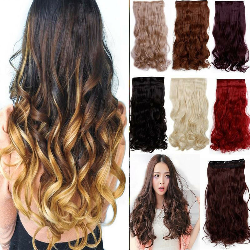 120 200g 17 30 Long Clip In Full Head Hair Extensions As Remy Human