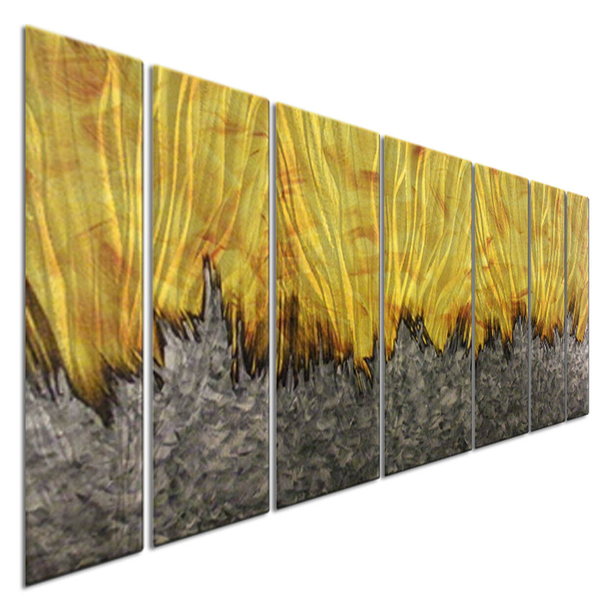 MODERN WALL ART Justin Strom Metal Wall Sculpture Abstract Artwork ...