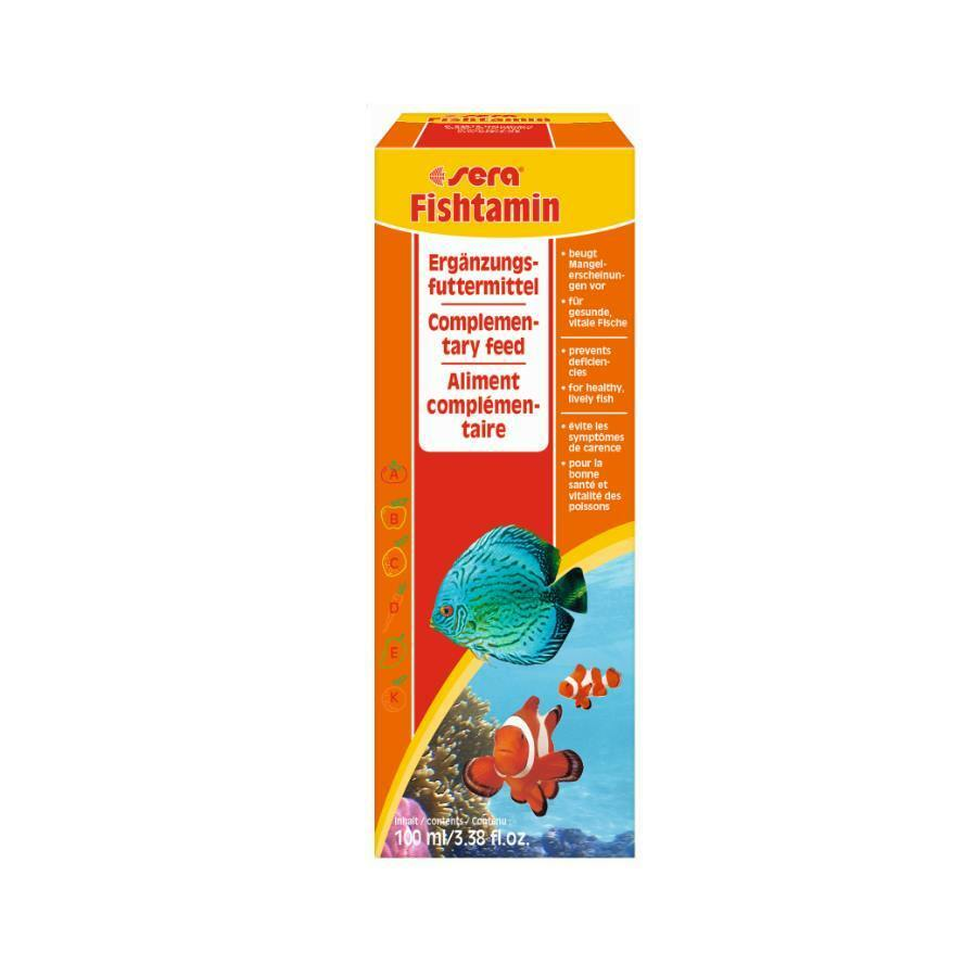 Aktion ! 100 ml sera fishtamin Süß- u. Meerwasser  Multivitamine, Fischvitamine