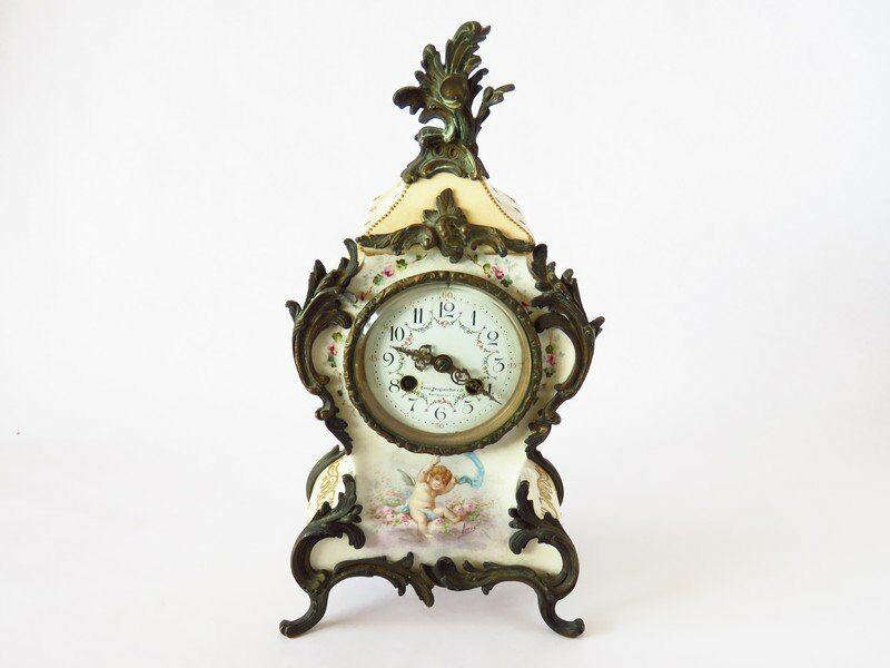 Charles Jacques Porcelain Cherub Clock ~Exquisite~