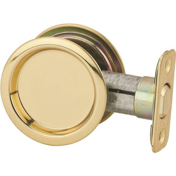Polished Brass Round Recessed Pocket Passage Door Handle Pull Latch N350330