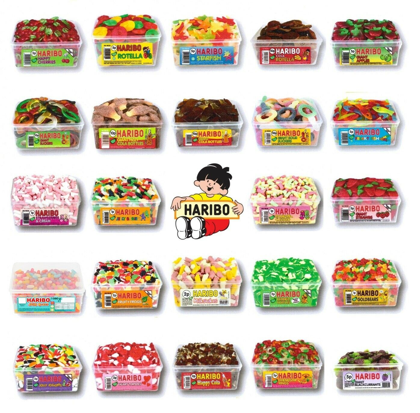 2 X FULL Tubs Haribo Sweets Wholesale Discount Candy Box Party ...