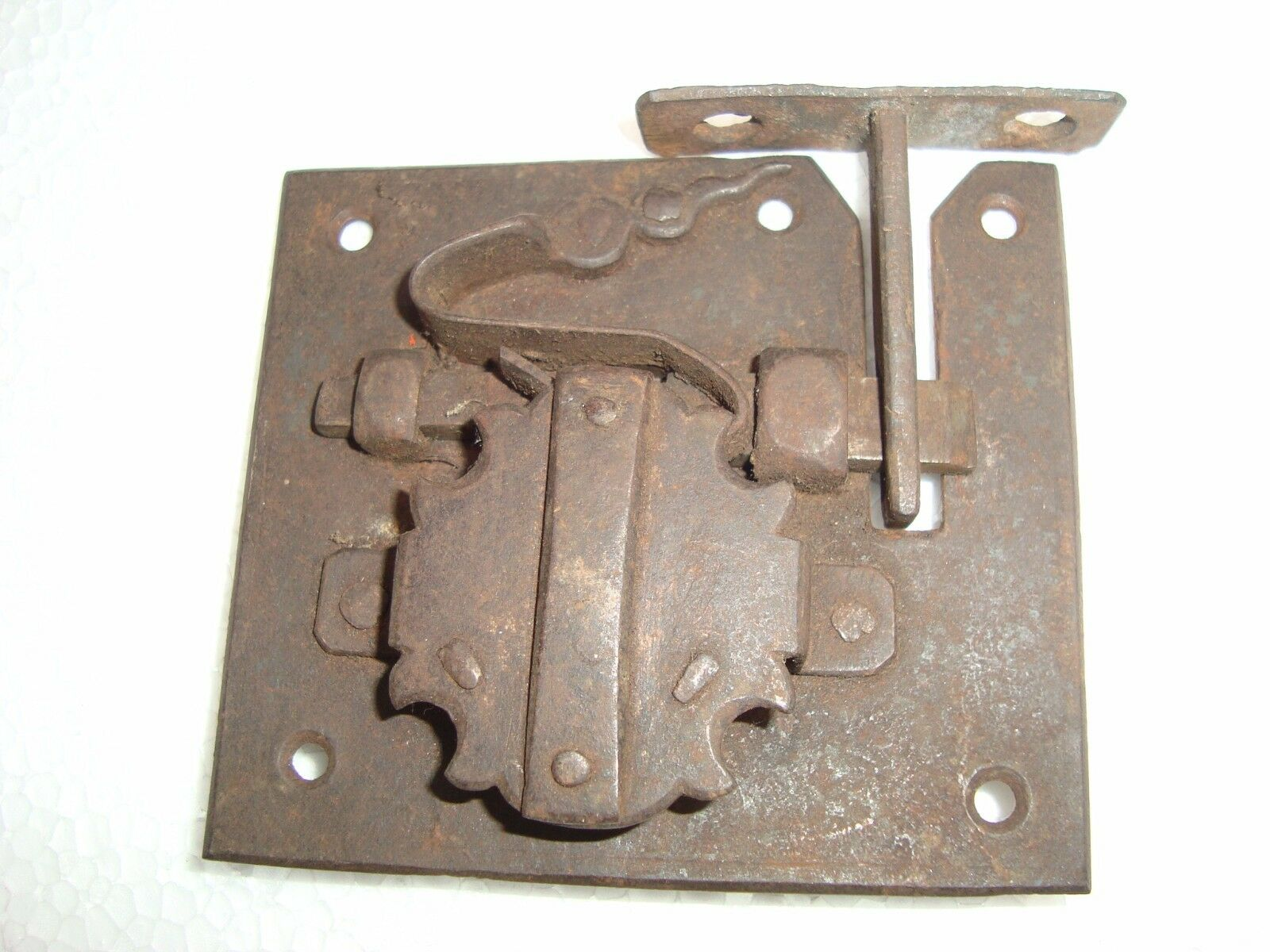 Vintage Original Rough Iron Chest Lock Key 18Th Century Colonial Rare