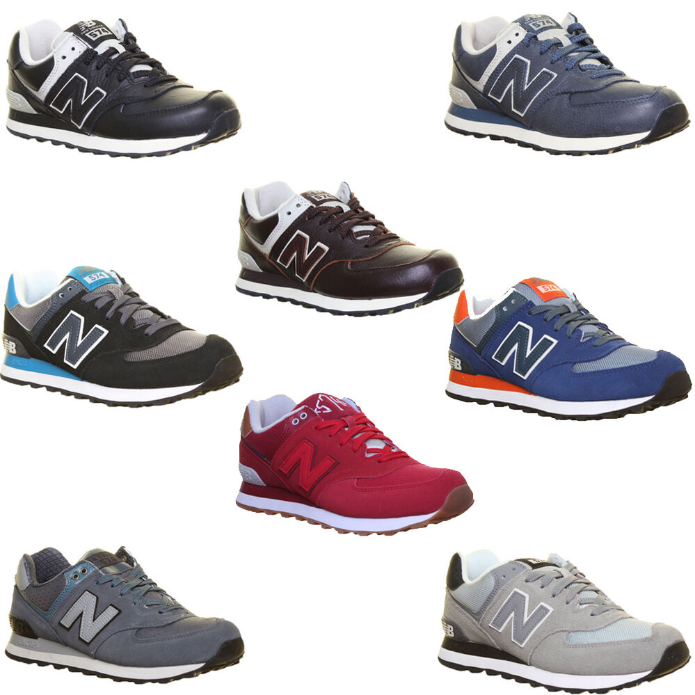 new balance ml 574 unisex suede leather trainers. Black Bedroom Furniture Sets. Home Design Ideas