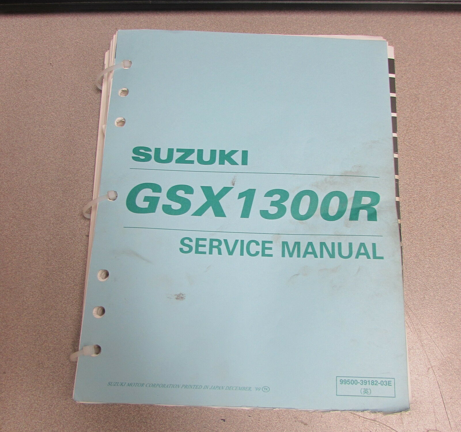 1999 Suzuki GSX1300R Service Repair ATV Motorcycle Manual 99500-39182-03E 1  of 1Only 1 available ...