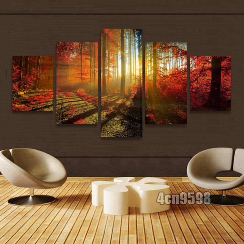 """HUGE MODERN ABSTRACT WALL DECOR ART OIL PAINTING ON CANVAS """"no frame"""" US Stock"""