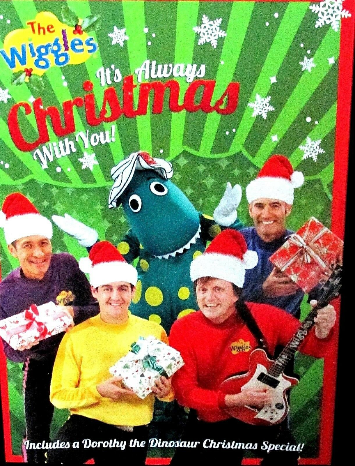 THE WIGGLES: ITS Always Christmas With You NEW! DVD Dinosaur Holiday ...