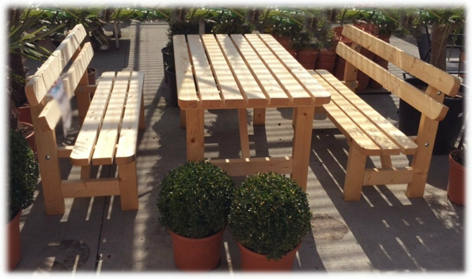 holz mass m bel sitzgruppe garten bierzelt garnitur tisch. Black Bedroom Furniture Sets. Home Design Ideas