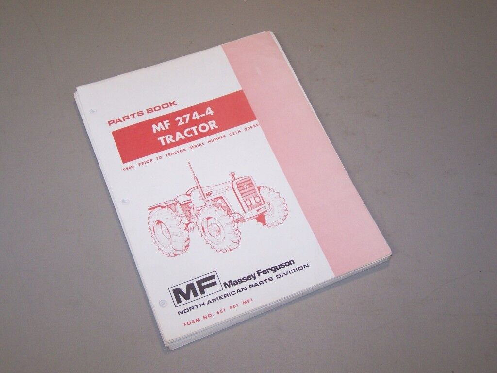 Mf274-4 Mf 274-4 Tractor Massey Ferguson Parts Book Manual Before Ser# 1 of  1Only 1 available See More