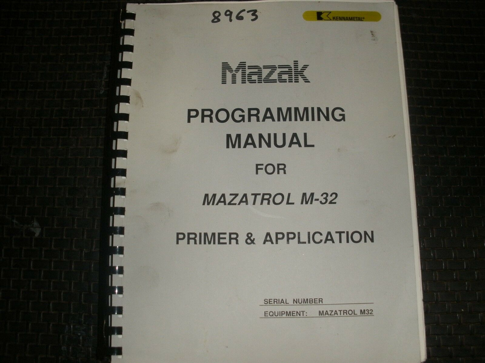 Mazak Programming Manual for Mazatrol M-32 Control 1 of 1Only 1 available  ...
