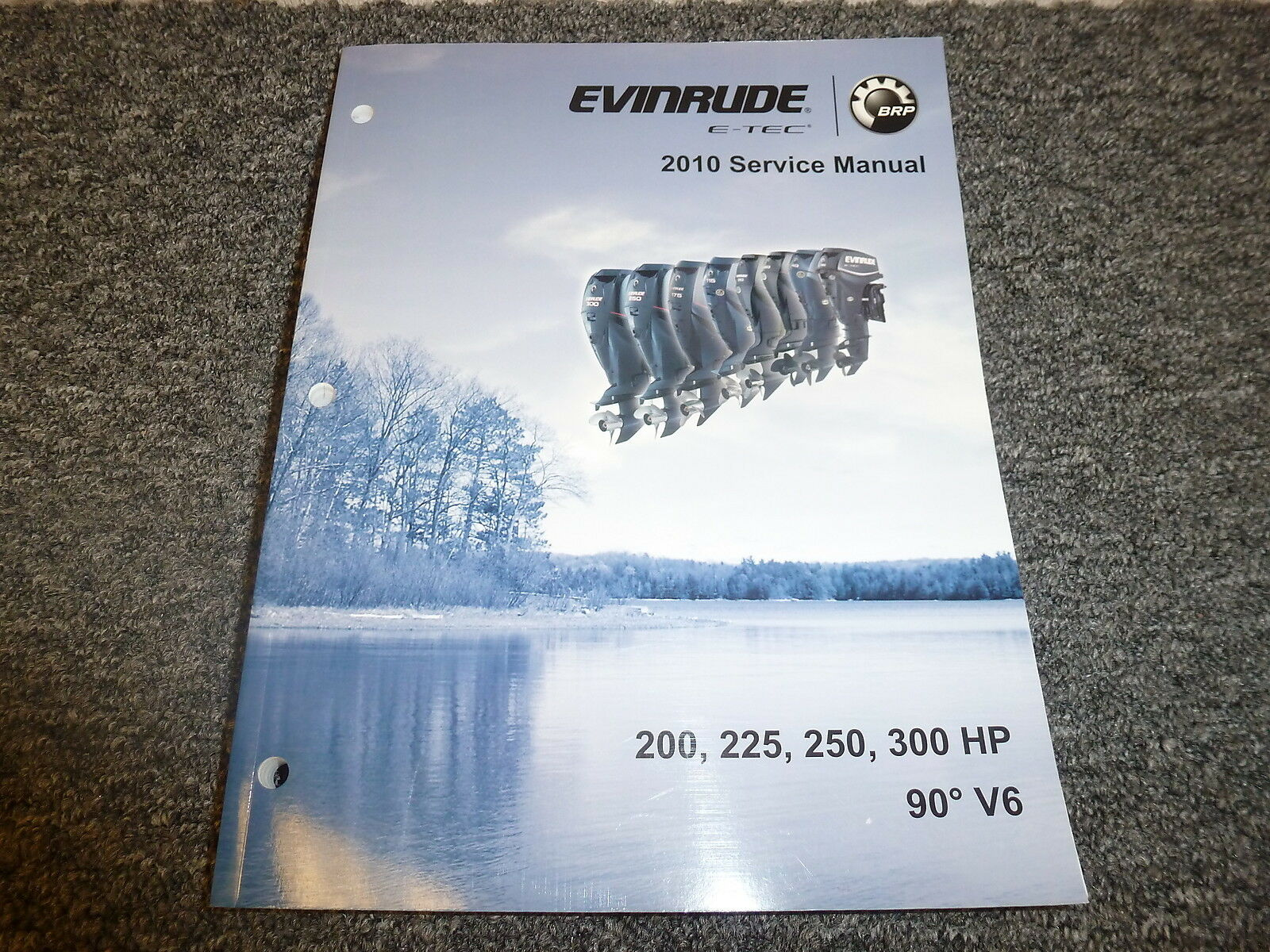 2010 Evinrude 200 225 250 300 HP 90 V6 E-TEC Shop Service Repair Manual 1  of 1Only 1 available ...
