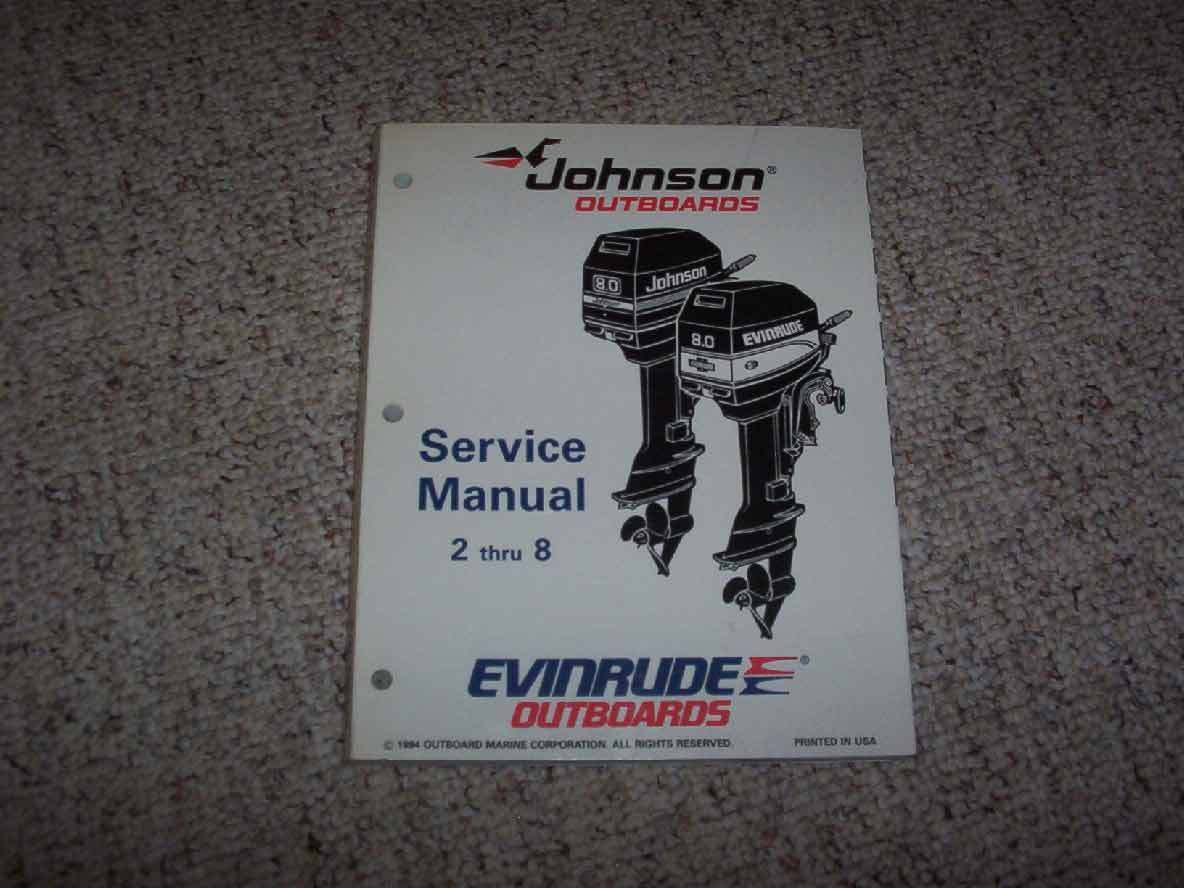 1995 Johnson Evinrude 4 5 6 8 HP Outboard Motor Service Repair Manual 1 of  1Only 1 available See More