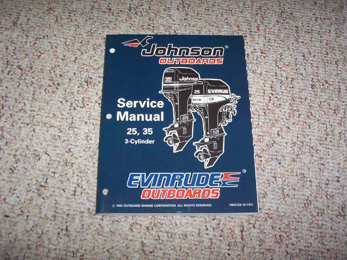 1996 Johnson Evinrude 25 35 3 Cyl HP Outboard Motor Shop Service Repair  Manual 1 of 1FREE Shipping ...