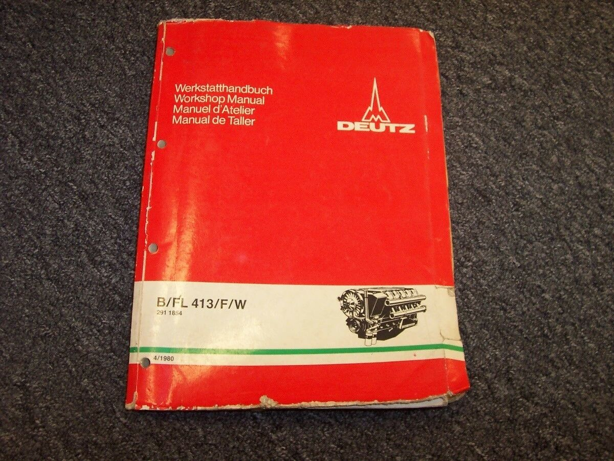 Deutz B FL 413 F W Engine Original Service WorkShop Shop Repair Manual 1 of  1Only 1 available See More