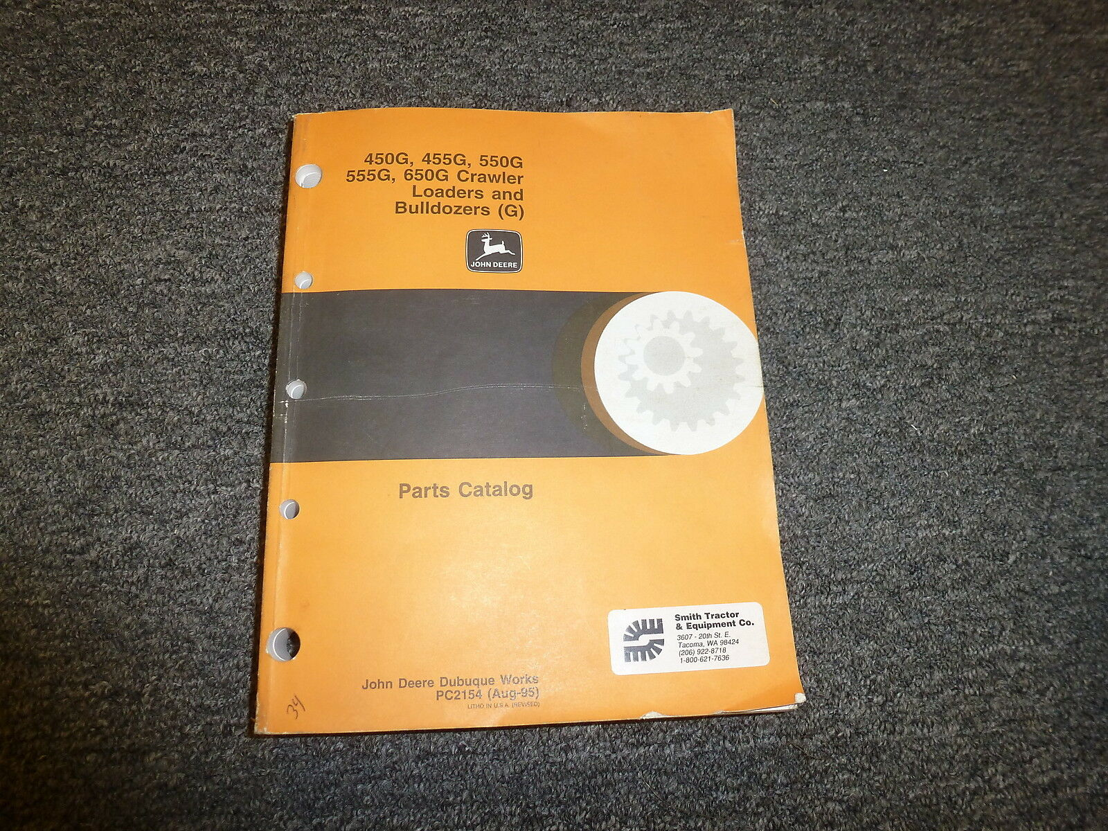 John Deere 555G 650G Crawler Loader Bulldozer Parts Catalog Manual PC2154 1  of 1Only 1 available ...