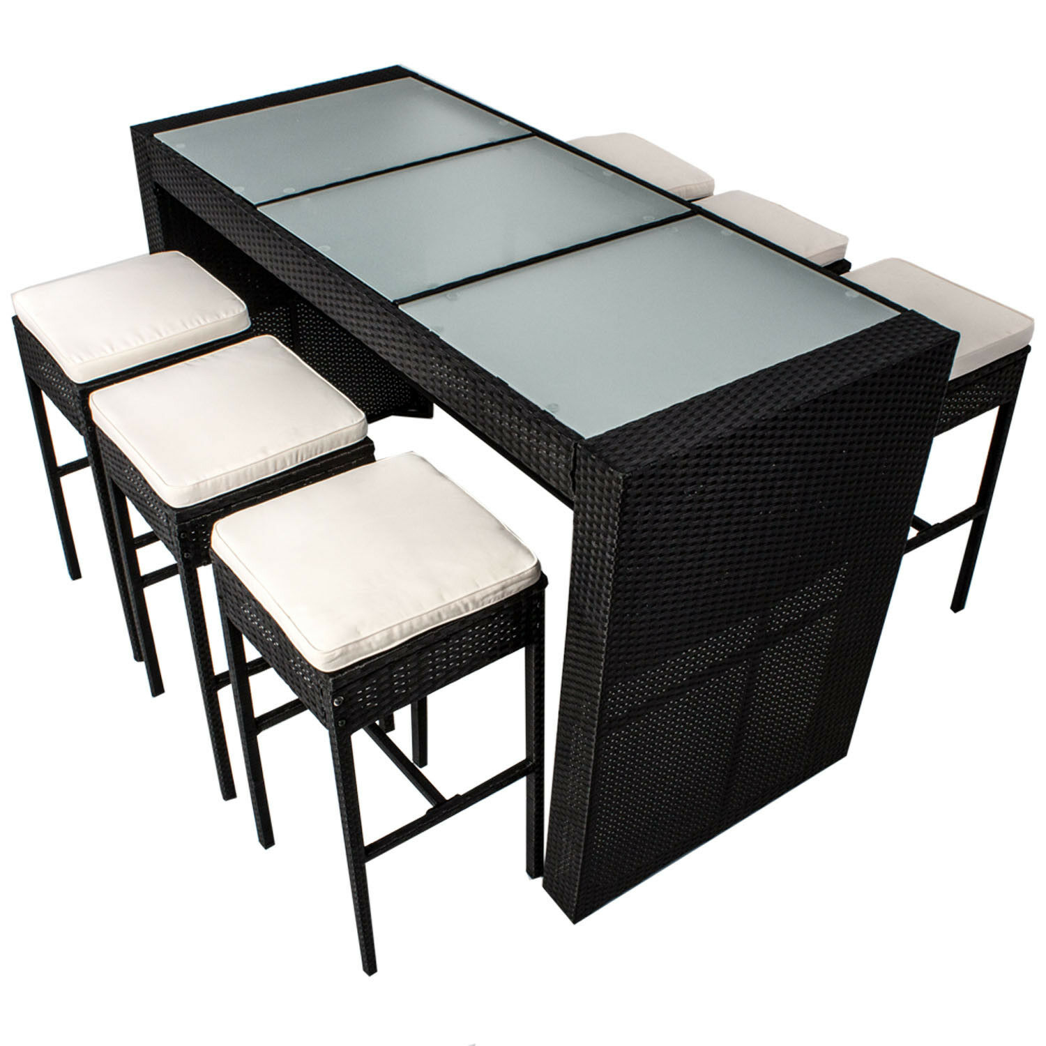 gartenm bel bar set polyrattan lounge gartenset rattan sitzgruppe garnitur neu picclick at. Black Bedroom Furniture Sets. Home Design Ideas
