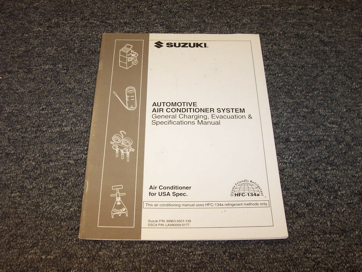 1997 Suzuki Sidekick SUV Air Conditioner Conditioning Service Manual JS JX  JLX 1 of 1Only 1 available ...