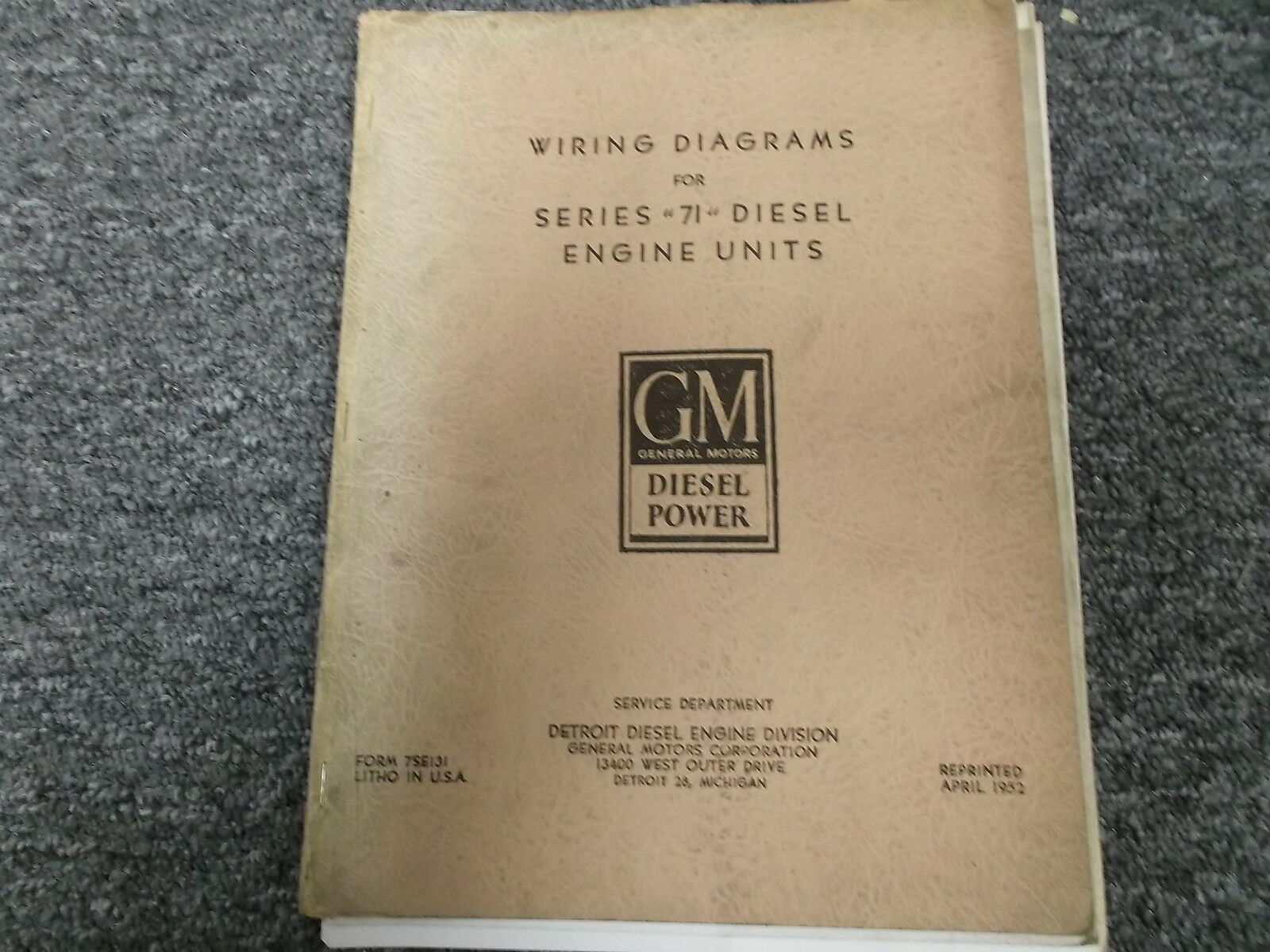 Detroit Diesel Gm 3 71 4 6 Series Electrical Wiring Schematics 1 Of 1only Available