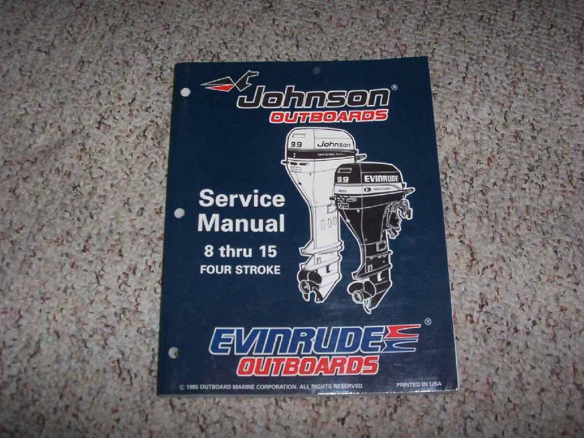 1996 Johnson Evinrude 8 9.9 15 HP Outboard Motor Shop Service Repair Manual  1 of 1FREE Shipping ...
