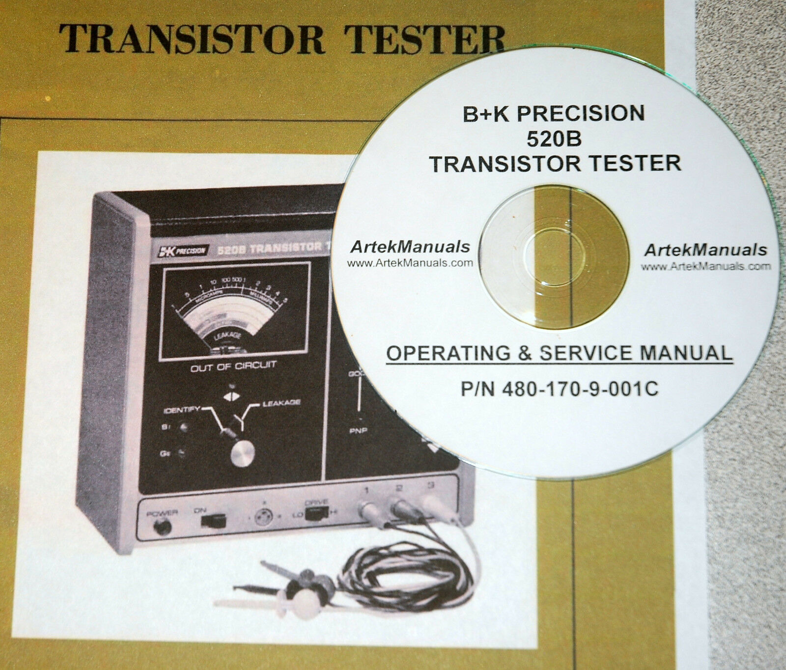 Manual For B K Precision 520b Transistor Tester Ops Service Repair 1 Of 1only 5 Available