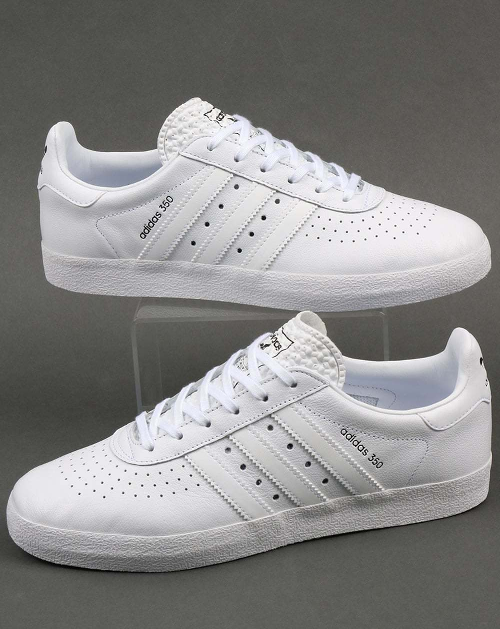 adidas originals adidas 350 trainers in triple white. Black Bedroom Furniture Sets. Home Design Ideas