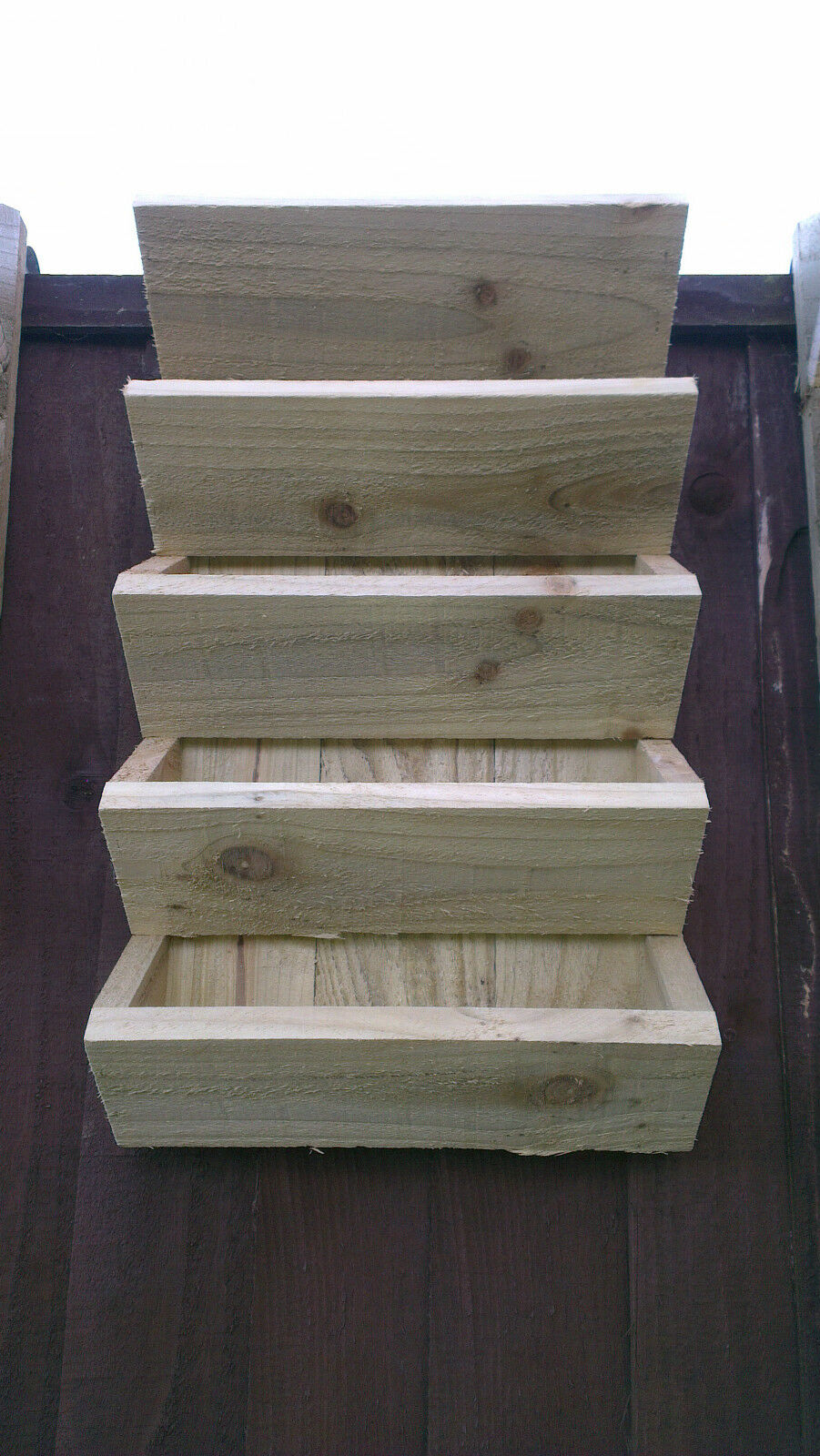 how to make hanging wooden planter box